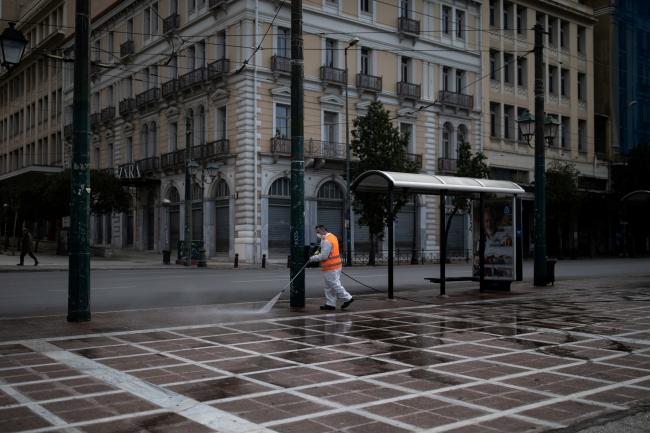 Yunanistan'ın başkenti Atina hayalet kente döndü. | Fotoğraf: Reuters