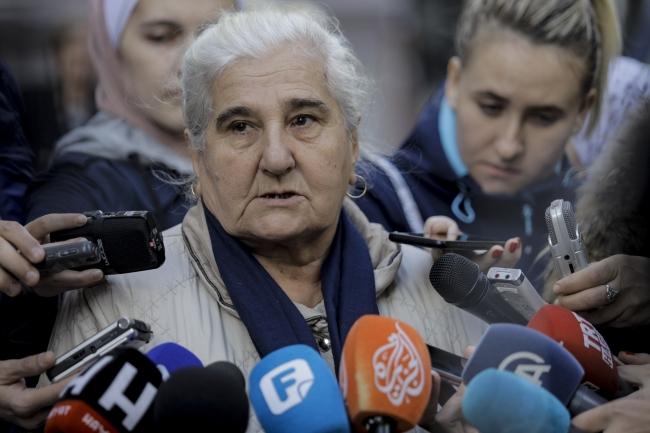 Srebrenitsa ve Zepa Anneleri Derneği Başkanı Munira Subasic. Fotoğraf: AA