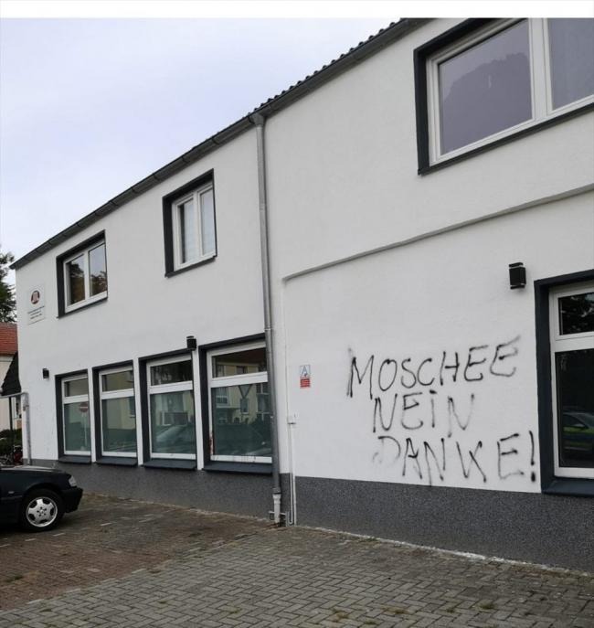 Almanya'da camiler son yıllarda sıklıkla saldırıların hedefi oluyor. (Fotoğraf: AA)