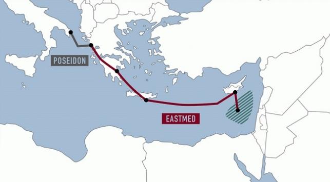 Uzunluğu bin 900 km'yi bulan EastMed projesi Türkiye'nin kara sularını da kullanmak hedefinde.
