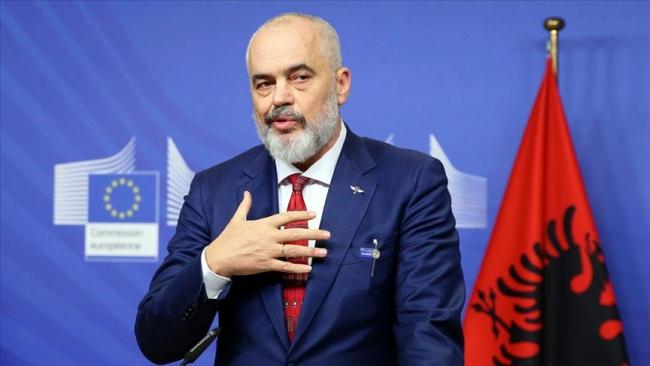 Arnavutluk Başbakanı Edi Rama. Fotoğraf: AA