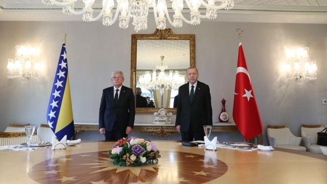 Bosna Hersek Devlet Başkanlığı Konseyi Başkanı Şefik Caferoviç ve Cumhurbaşkanı Recep Tayyip Erdoğan. Fotoğraf: AA