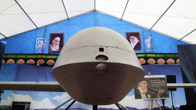 İran'ın sergilediği bir İHA. Fotoğraf: AA
