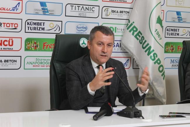 Giresunspor Kulübü Başkanı Karaahmet: Bu sezon destan yazıyoruz