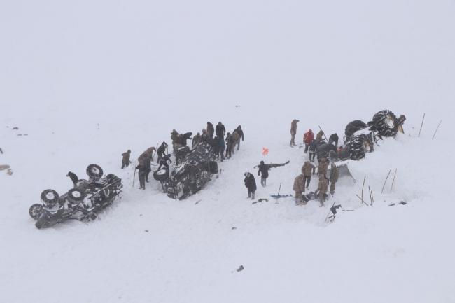 Van Bahçesaray'da yaşanan 2 çığ felaketinde 41 vatandaşımız hayatını kaybetmişti. Foto: AA