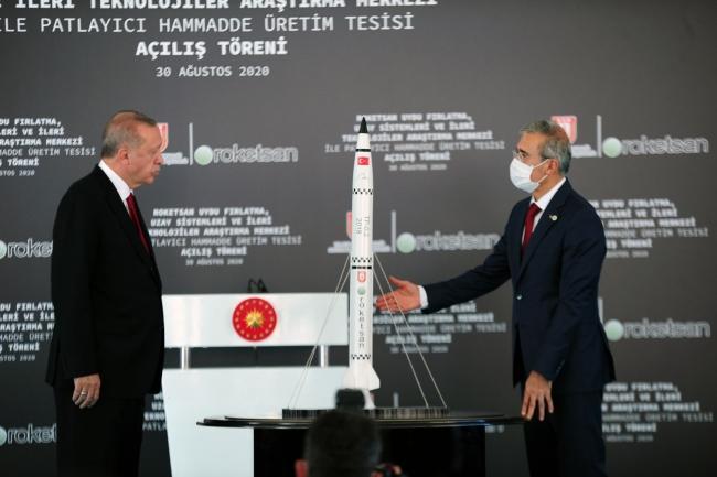 Cumhurbaşkanı Erdoğan'ın katıldığı programda savunma sanayiindeki yeni gelişmeler de duyuruldu. Foto: AA
