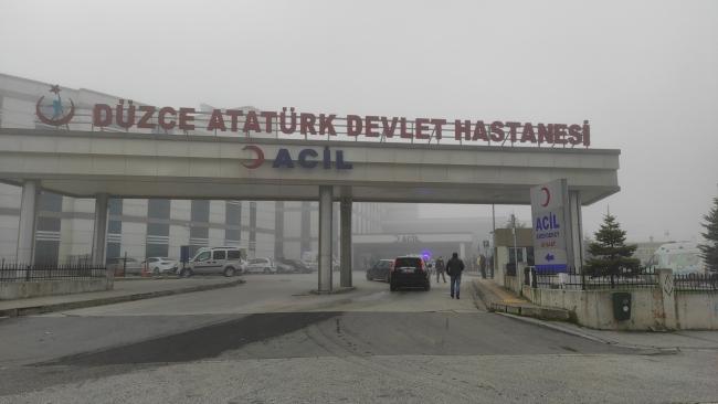 Düzce'de hastanede yangın: Acil servis tahliye edildi