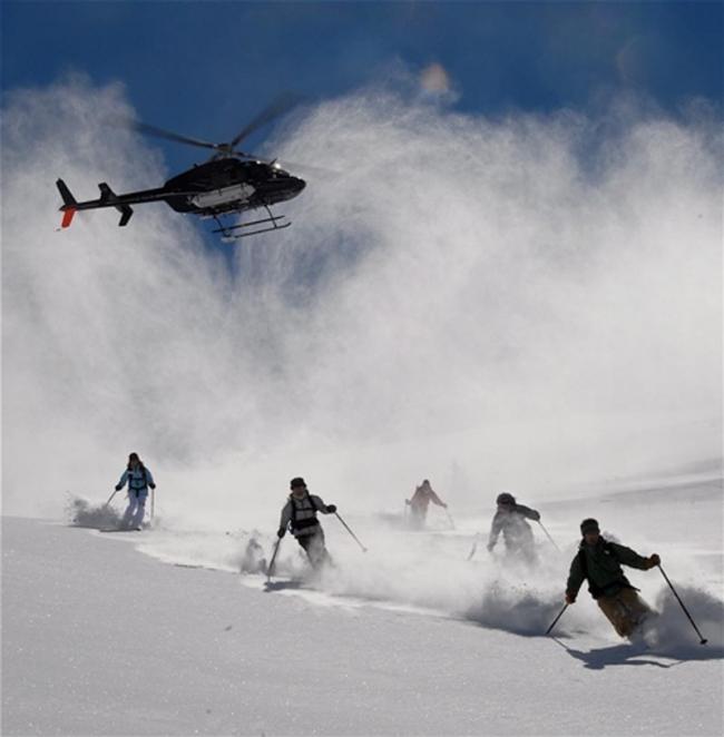 Avrupalı kayakçılar Heliski için Kaçkarlar'ı tercih etti