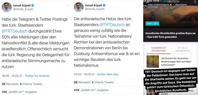 TRT Deutsch ofisine ırkçı tehdit mektubu