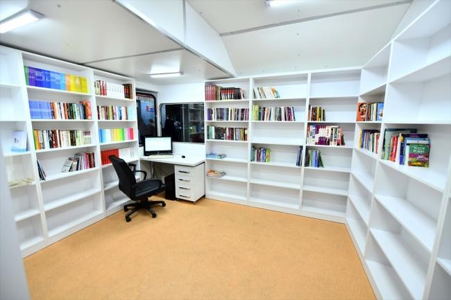 Başkentte tren maketinden yapılan kütüphane açıldı