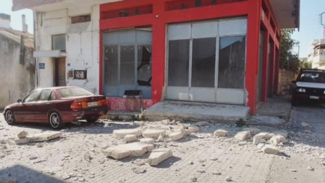 Girit Adası'nda sarsıntılar sürüyor