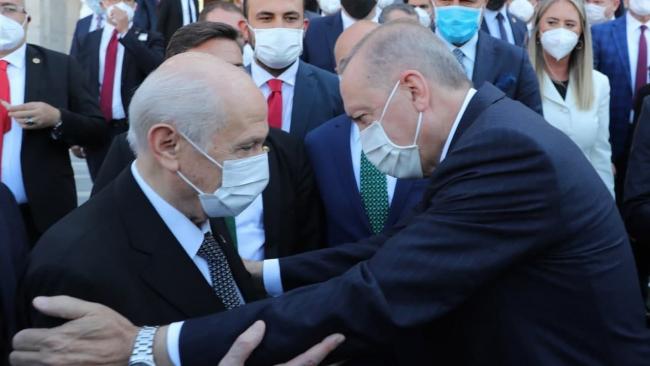 Cumhurbaşkanı Erdoğan MHP Genel Başkanı Bahçeli ile bir araya geldi