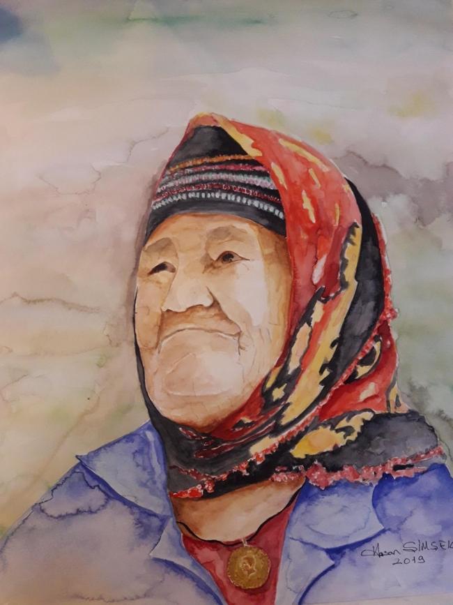şehit Annesinin Suluboya Portresini Yaptırıp Hediye Etti