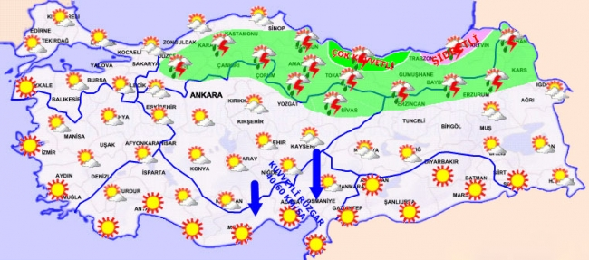 Doğu Karadeniz'e şiddetli yağış uyarısı: Vatandaşlar cami hoparlörlerinden uyarıldı