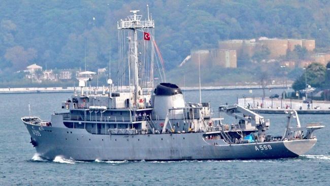 TCG Çeşme gemisi Orta Ege'de hidrografik çalışmalara katılacak.