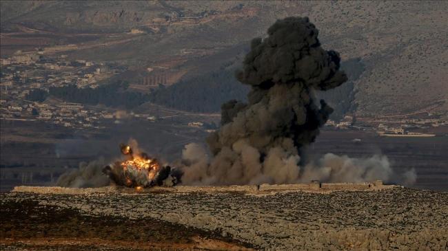 Zeytin Dalı Harekatı'nda imha edilen terör hedefi. Fotoğraf: AA