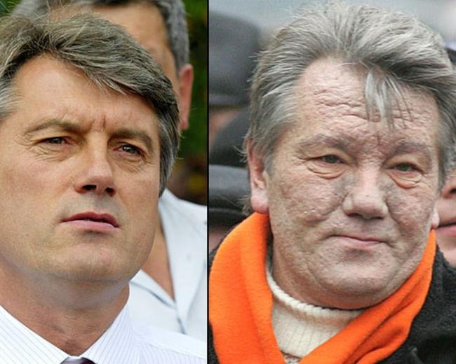 2004'deki seçimi kazanacağı anlaşılan Yuşçenko, faili halen bulunamayan bir zehirlenmeye maruz kalmış ve ölümün kıyısından dönmüştü.